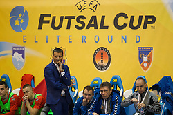 November 22, 2017 - Pescara, PE, Italy - Hicham ben Hammou head coach of 't Knooppunt during the Elite Round of UEFA Futsal Cup 17/18 match between Pescara Calcio a 5 and KMF Ekonomac Kragujevac at Giovanni Paolo II arena on November 22, 2017 in Pescara, Italy. (Credit Image: © Danilo Di Giovanni/NurPhoto via ZUMA Press)