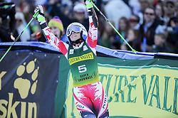 29.11.2014, Aspen Mountain Course, Aspen, USA, FIS Weltcup Ski Alpin, Aspen, Riesenslalom, Damen, 2. Lauf, im Bild Eva-Maria Brem (AUT, 1. Platz) // 1st placed Eva-Maria Brem of Austria reacts after finish her 2nd run of ladies Giant Slalom of FIS Ski Alpine Worldcup at the Aspen Mountain Course in Aspen, Canada on 2014/11/29. EXPA Pictures © 2014, PhotoCredit: EXPA/ Erich Spiess