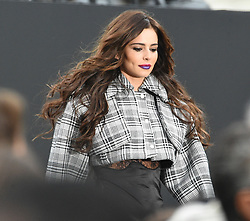Cheryl Cole is seen walking the L'Oreal fashion show in Paris, Cheryl looked extremely nervous at rehearsals <br />