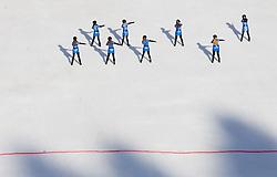 Ice Ladies perform prior to the 1st Run of Men's Slalom - Pokal Vitranc 2012 of FIS Alpine Ski World Cup 2011/2012, on March 11, 2012 in Vitranc, Kranjska Gora, Slovenia.  (Photo By Vid Ponikvar / Sportida.com)