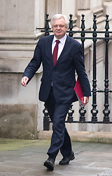 © Licensed to London News Pictures. 31/01/2017. London, UK. Secretary of State for Exiting the European Union David Davis arriving at Downing Street for a cabinet meeting this morning. Photo credit : Tom Nicholson/LNP