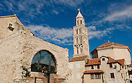 Cathedral (originally Diocletian's maosoleum) and bell tower, with the Ethnographic Museum in the foreground, Diocletian's Palace, Split, Croatia © Rudolf Abraham