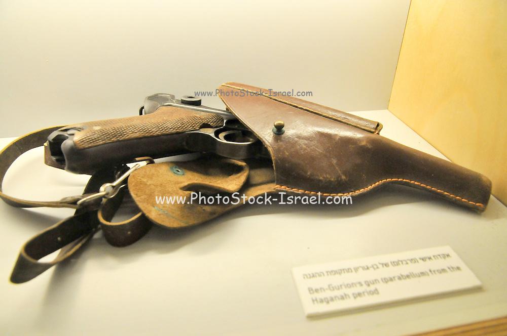 Ben Gurion's pistol - Parabellum Israel, Negev desert, Kibbutz Sde Boker, Ben-Gurion's Desert Home