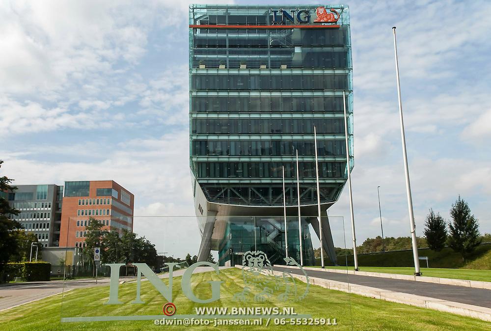 Het ING-kantoor aan de Amstelveenseweg te Amsterdam, beter bekend als de Schoen.