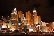 New York, New York casino at night, Las Vegas, Nevada, USA