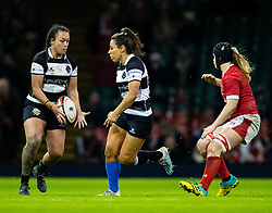 Ariana Hira of Barbarians receives the ball from team mate Sene Naoupu<br /> <br /> Photographer Simon King/Replay Images<br /> <br /> Friendly - Wales v Barbarians - Saturday 30th November 2019 - Principality Stadium - Cardiff<br /> <br /> World Copyright © Replay Images . All rights reserved. info@replayimages.co.uk - http://replayimages.co.uk