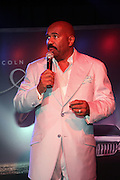 """Steve Harvey at """" Lincoln After Dark """" sponsored by Lincoln Motors and hosted by Idris Elba and Steve Harvey and music by Biz Markie during the 2009 Essence Music Festival and held at The Contemporary Arts Center in New Orleans on July 4, 2009"""