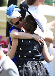 Zara Tindall (left) and Princess Eugenie of York during day one of Royal Ascot at Ascot Racecourse.