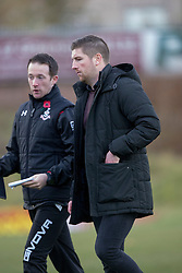 Albion Rover's manager Darren Young. Albion Rover 1 v 2 Airdrie, Scottish League 1 game played 5/11/2016 at Cliftonhill.