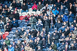 Falkirk away fans after the first goal.<br /> Raith Rovers 2 v 4 Falkirk, Scottish Championship game today at Starks Park.<br /> © Michael Schofield.