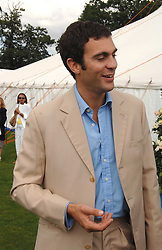 HUGH VAN CUTSEM at the Cartier International polo at Guards Polo Club, Windsor Great Park on 29th July 2007.<br />