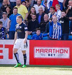 Kill fan at Falkirk's John Baird. Kilmarnock 4 v 0 Falkirk, second leg of the Scottish Premiership play-off final.