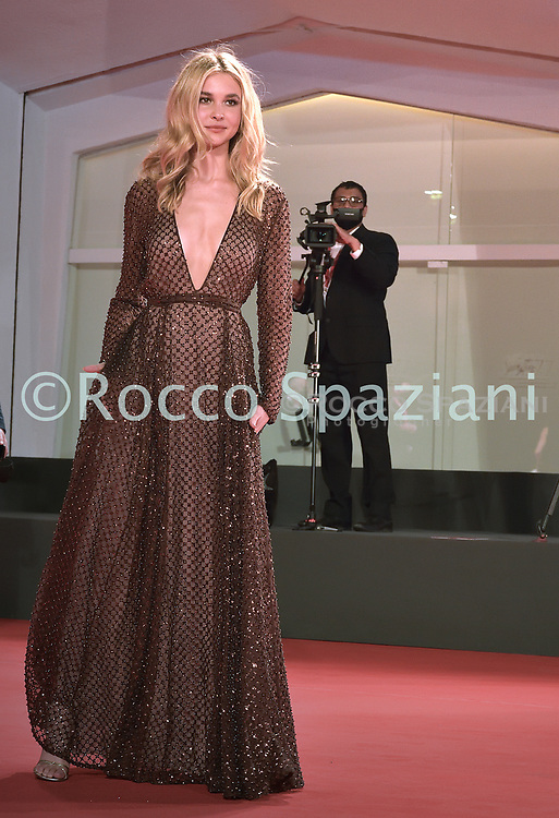 """VENICE, ITALY - SEPTEMBER 10:   Isabel May the red carpet ahead of the movie """"Run Hide Fight"""" at the 77th Venice Film Festival on September 10, 2020 in Venice, Italy.<br /> (Photo by Rocco Spaziani)"""