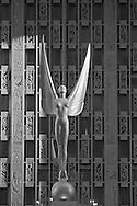Waldorf-Astoria Hotel, NYC, NY, designed by Schultze & Weaver, Art Deco, Statue Angel