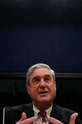 May 17, 2017 - FILE PHOTO - The Justice Department on Wednesday named ROBERT MUELLER as special counsel to oversee the department's investigation into Russian meddling in the 2016 election. Mueller III served as FBI director from 2001 through 2013. Pictured: Feb. 10, 2011 - Washington, D.C, U.S. - Federal Bureau of Investigation Director Robert Mueller testifies before the house intelligence committee hearing on ''World Wide Threats. (Credit Image: © James Berglie/ZUMAPRESS.com)