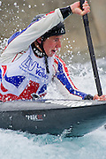 Lizzie Neave. The British Olympic Association (BOA) announce the first group of athletes nominated by British Canoeing for selection to Team GB from the sport of canoe slalom for the London 2012 Olympic Games<br />  Lee Valley White Water Centre<br /> Station Road, Waltham Cross' UK.  Guy Bell, guy@gbphotos.com