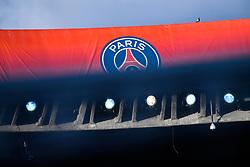 October 3, 2018 - Paris, Ile-de-France, France - PSG logo is seen during the UEFA Champions' League football match Paris Saint Germain (PSG) against Red Star Belgrade at the Parc des Princes stadium in Paris on October 3, 2018. (Credit Image: © Julien Mattia/NurPhoto/ZUMA Press)