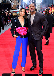 Naomie Harris and Dwayne Johnson attending the European premiere of Rampage, held at the Cineworld in Leicester Square, London