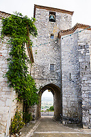 France, Pujols. An old small fortified town.