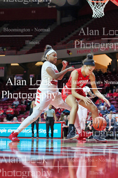 NORMAL, IL - December 04: Arielle Gonzalez-Varner during a college women's basketball game between the ISU Redbirds  and the Austin Peay Governors on December 04 2018 at Redbird Arena in Normal, IL. (Photo by Alan Look)