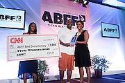 Miami Beach, Florida, NY-June 23: Director Bryan Hurt receives the ABFF Best Documentary Fiml Award sponsored by CNN at the 2012 American Black Film Festival Winners Circle Awards Presentation held at the Ritz Carlton Hotel on June 23, 2012 in Miami Beach, Florida (Photo by Terrence Jennings)