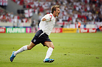 Photo: Chris Ratcliffe.<br /> <br /> England v Ecuador. 2nd Round, FIFA World Cup 2006. 25/06/2006.<br /> <br /> David Beckham of England celebrates his goal.