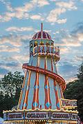 Dusk over the trademark helter skelter - The 2016 Latitude Festival, Henham Park, Suffolk.