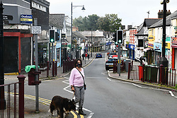 © Licensed to London News Pictures. 08/09/2020. Caerphilly, Wales, UK. General view of the town of Caerphilly in south Wales, which has gone into lockdown along with it's wider borough area, after what is being described as a rapid increase in coronavirus cases. The Welsh government announced that from 6pm on Tuesday people will not be able to leave or enter the area without good reason, along with other restrictive measures.<br />  Photo credit: Robert Melen/LNP