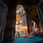 Massive doors of the Byzantine Hagia Sophia church, Istanbul