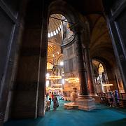 Massive doors of the Byzantine Hagia Sophia church, Istanbul