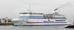 Embargoed to 0001 Saturday July 29 File photo dated 23/3/2010 of Brittany Ferries' new cruise ferry Cap Finistere. Demand for domestic and Irish ferry travel has grown by 4.2\% this year, new figures show.