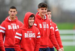 Bristol Bears Academy U18 players prior to kick-off - Mandatory by-line: Nizaam Jones/JMP- 05/01/2019 - RUGBY - North Bristol RFC - Bristol, England - Bristol Academy U18 v Exeter Chiefs U18-U18 Academy League
