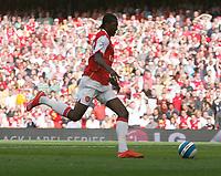 Photo: Steve Bond.<br />Arsenal v Derby County. The FA Barclays Premiership. 22/09/2007. Emmanual Adebayor places the ball into an empty net