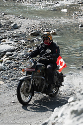 Rip Rolfsen made his way through a fun spot as we were beginning to understand water would keep crossing our path on day-4 of our Himalayan Heroes adventure riding from Pokhara to Kalopani, Nepal. Friday, November 9, 2018. Photography ©2018 Michael Lichter.