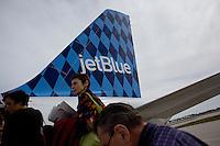 Jet Blue flys direct to Palm Beach, Florida from New York's JFK. .Photo by Robert Caplin