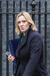 © Licensed to London News Pictures. 01/11/2016. London, UK. Home Secretary Amber Rudd arrives on Downing Street for the weekly Cabinet meeting. Photo credit: Rob Pinney/LNP