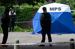 © Licensed to London News Pictures 26/06/2021. Sydenham, UK. A murder investigation has been launched by police following the fatal stabbing of a teenager in Sydenham, South East London last night Friday 25th. Photo credit:Grant Falvey/LNP