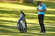 February 16th 2017, Lake Karrinyup Country Club, Perth, Western Australia, Australia; ISPS Handa World Super 6 Perth Golf Tournament Day 1; Jordan Zunic checks his distance (AUS) on the 11th fairway during the opening round of the ISPS Handa World Super 6 Golf Tournament;