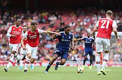 Jason Denayer of Lyon on the ball - Mandatory by-line: Arron Gent/JMP - 28/07/2019 - FOOTBALL - Emirates Stadium - London, England - Arsenal v Olympique Lyonnais - Emirates Cup