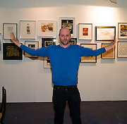 GAVIN TURK, Preview evening for the London Art Fair. Business Design Centre. Islington. London. 13 January 2009.  *** Local Caption *** -DO NOT ARCHIVE -Copyright Photograph by Dafydd Jones. 248 Clapham Rd. London SW9 0PZ. Tel 0207 820 0771. www.dafjones.com<br /> GAVIN TURK, Preview evening for the London Art Fair. Business Design Centre. Islington. London. 13 January 2009.