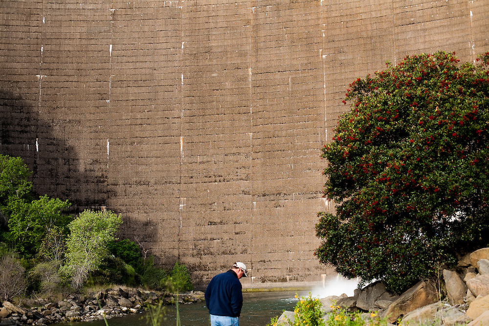 Ken Emigh, Damtender for Solano County Irrigation District, outside of Monticello Dam on March 24, 2010.
