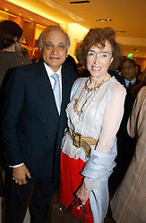 SIRDAR ALY AZIZ and MARCELLA, LADY DASHWOOD at a party to celebrate the publication of 'Made for Maharajas' by Dr Amin Jaffer hosted by Louis Vuitton at their store on Sloane Street, London on 10th October 2006.<br /><br />NON EXCLUSIVE - WORLD RIGHTS