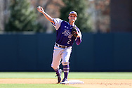 CHAPEL HILL, NC - FEBRUARY 27: High Point's Hunter Lee. The University of North Carolina Tar heels hosted the High Point University Panthers on February 27, 2018, at Boshamer Stadium in Chapel Hill, NC in a Division I College Baseball game. UNC won the game 10-0.