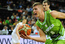 Edo Muric of Slovenia during friendly match between National Teams of Slovenia and New Zealand before World Championship Spain 2014 on August 16, 2014 in Kaunas, Lithuania. Photo by Robertas Dackus / Sportida.com