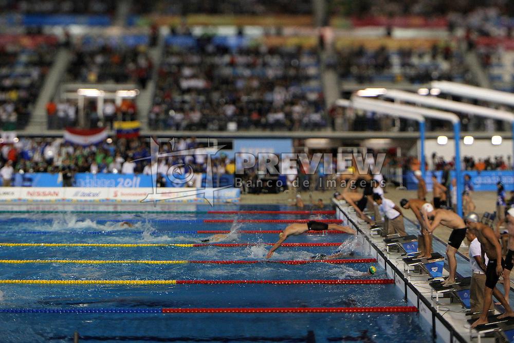 Prova final do revezamento por equipes na natação dos jogos Pan-Americanos de Guadalajara 2011. FOTO: Jefferson Bernardes/Preview.com