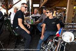 Dennis Kirk Garage Build bike show at the Iron Horse Saloon during the Sturgis Motorcycle Rally. SD, USA. Tuesday, August 10, 2021. Photography ©2021 Michael Lichter.