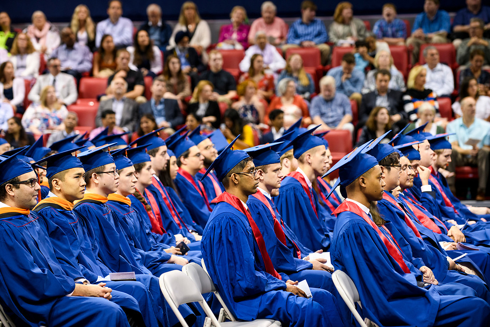 Graduates, faculty, family and friends attend the Lyle School of Engineering Graduation Diploma Ceremony, Saturday, May 18, 2019 in Moody Coliseum on the SMU Campus.