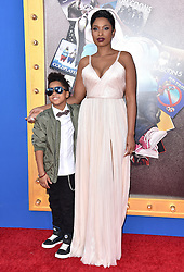 David Daniel Otunga jr and his mother Jennifer Hudson attend the premiere of Universal Pictures' 'Sing' on December 3, 2016 in Los Angeles, California. Photo by Lionel Hahn/AbacaUsa.com