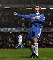 Photo: Paul Thomas.<br /> Chelsea v Wycombe Wanderers. Carling Cup, Semi Final 2nd Leg. 23/01/2007.<br /> <br /> Andriy Shevchenko of Chelsea celebrates his second goal.