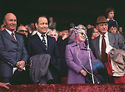 VIP's standing for the national anthem before the All Ireland Senior Hurling Final, Cork v Wexford in Croke Park on the 4th September 1977. Cork 1-17 Wexford 3-8.